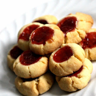 Eggless Strawberry Thumbprint Cookies