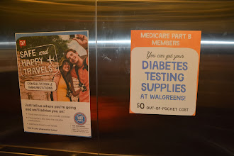 Photo: While in the elevator, I saw more ads for the types of services they do at the clinic. Great advertising!