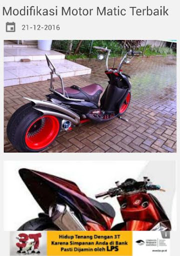 Modifikasi Motor Matic Keren screenshot