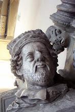 Photo: Fürstbischof Ernst v. Mengersdorf. - Detail aus seinem Grabmal in der St. Michaels-Kirche zu Bamberg.