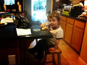 Photo: Finn Eats From The Bag