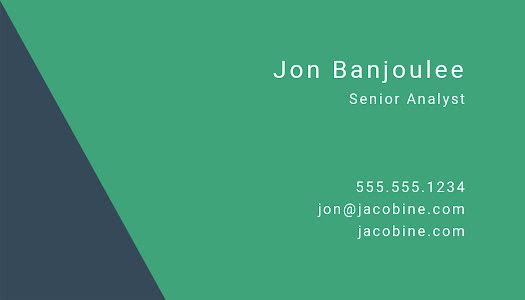 Banjoulee Analyst Back - Business Card Template