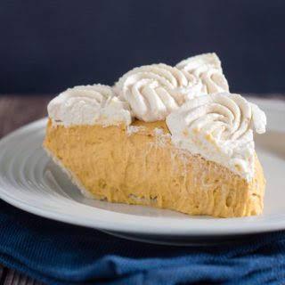 Pumpkin Cream Pie with Salted Caramel Whipped Cream.