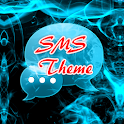 Blue Fire Theme GO SMS icon