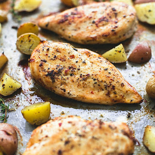 Baked Buttery Herb Chicken & Potatoes