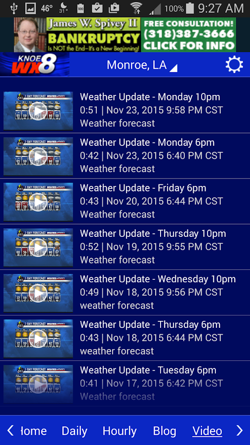 KNOE 8 WX- screenshot
