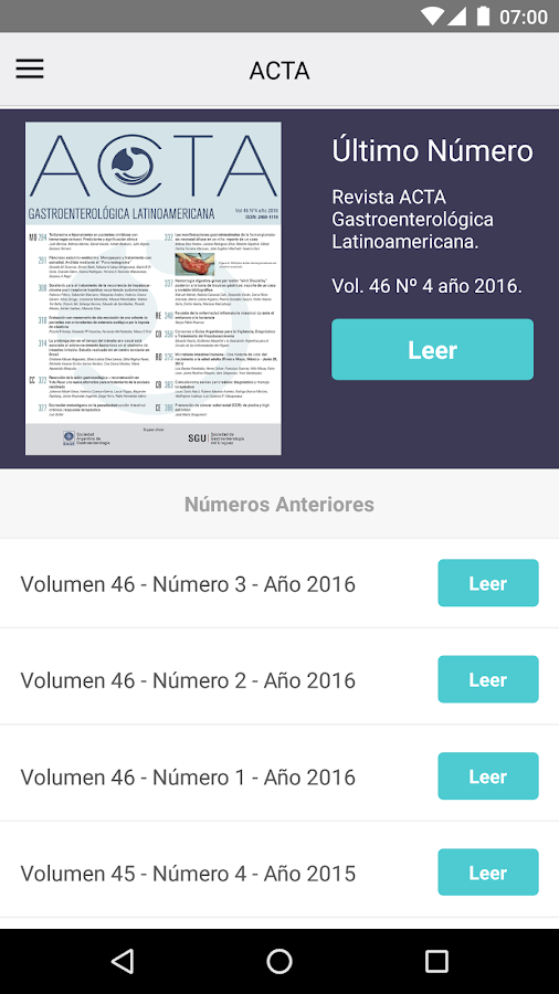 Acta Gastroenterol Latinoam.- screenshot