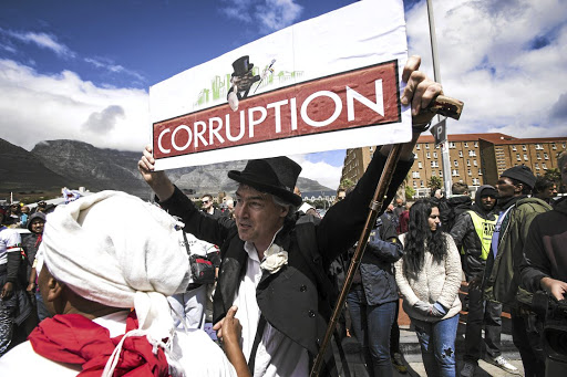 Corruption has increased to such a level that SA is ranked among the top 20 corrupt countries in the world, says the writer.  / David Harrison