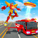 Flying Bus Robot Hero Transform War: Robot Games icon