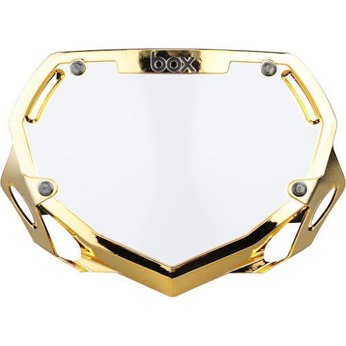 BOX Phase 1 Number Plate Large Gold Chrome