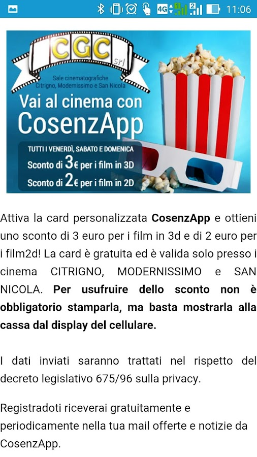 CosenzApp- screenshot