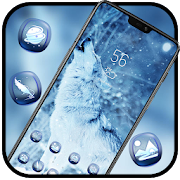 White Snow Wolf Howling theme Animals World