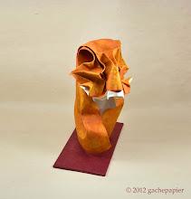 Photo: Buste de Tigre - lokta sur Canson (49cm x 64cm)