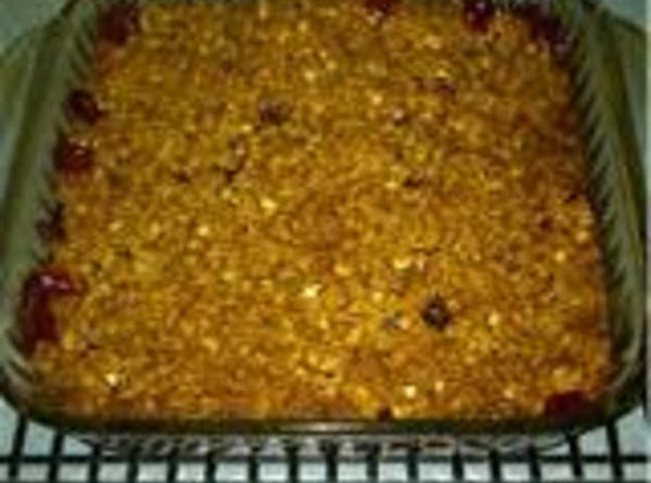 Bake around 30-35 minutes, until apples are tender & the topping is golden brown...