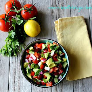 Tomato Cucumber Avocado Salad.