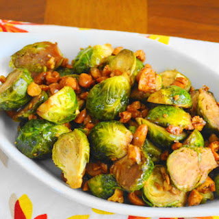 Asian Cashew Roasted Brussels Sprouts
