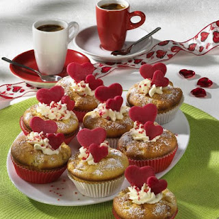 Apple Muffins with Marzipan Hearts