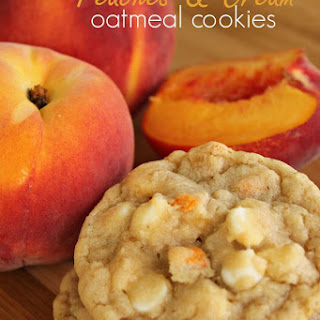 Peaches and Cream Oatmeal Cookies