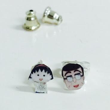 小丸子系列耳環