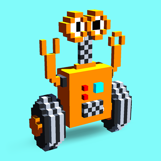 Robots 3D Color by Number:Pixel Art,Voxel Coloring Icon
