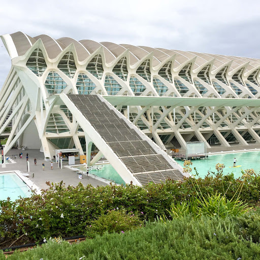 Valencia-City-of-Arts-Sciences3-2.jpg - The Museum of Natural History and Arts features architecture that resembles dinosaur bones.
