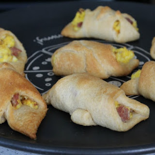 Ham and Egg Crescent Rolls - Easy Breakfast.