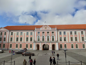 Photo: This is the front of the castle where the Estonian parliament meets.  Old Town is a UNESCO Historical Site.