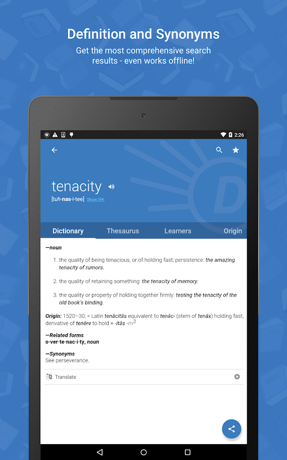 Dictionary.com- screenshot