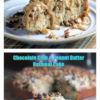 Chocolate Chip and Peanut Butter Oatmeal Cake