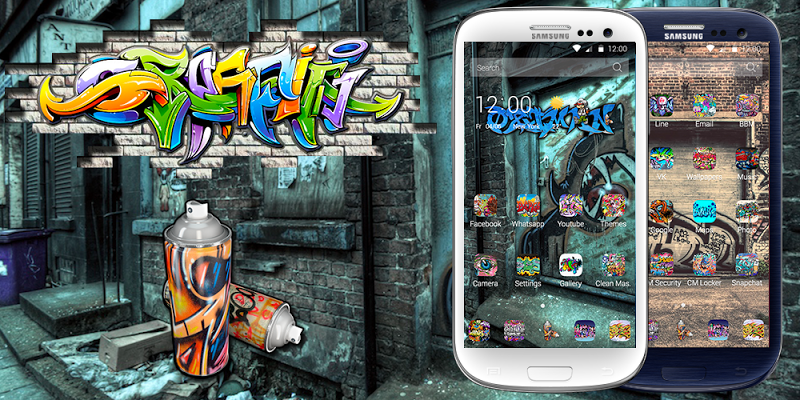 Graffiti Theme - screenshot