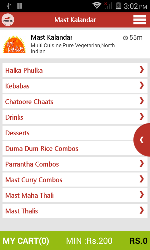 Jusfood order food online android apps on google play for Order food to go