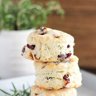 Rosemary and Dried Cranberry Biscuits