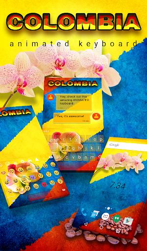 Kolumbien Animierte Tastatur Screenshots 1