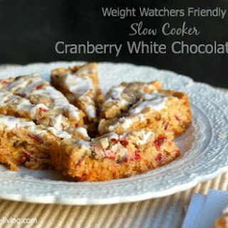 Cranberry White Chocolate Crock Pot Cookie Bars.