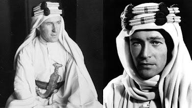 Photo: O verdadeiro Lawrence da Arábia (esquerda) e o ator Peter O'Toole caracterizado como o personagem.