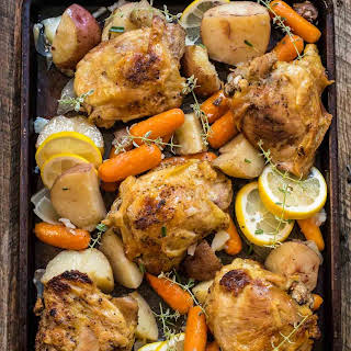 Crock Pot Lemon Garlic Chicken.