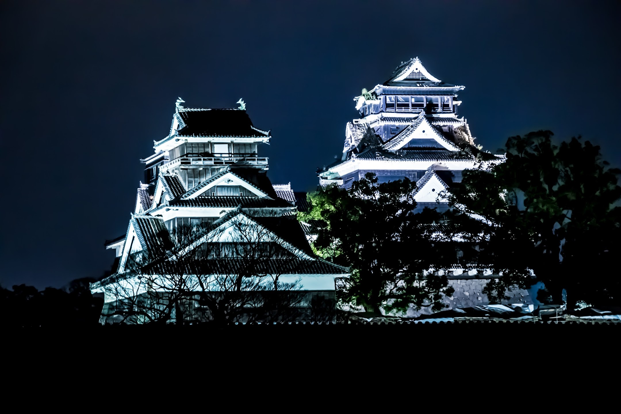Kumamoto Castle light-up3