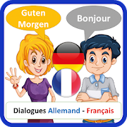 learn German French with A1 A2 dialogues