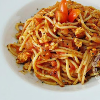 Spaghetti with in Red Sauce.