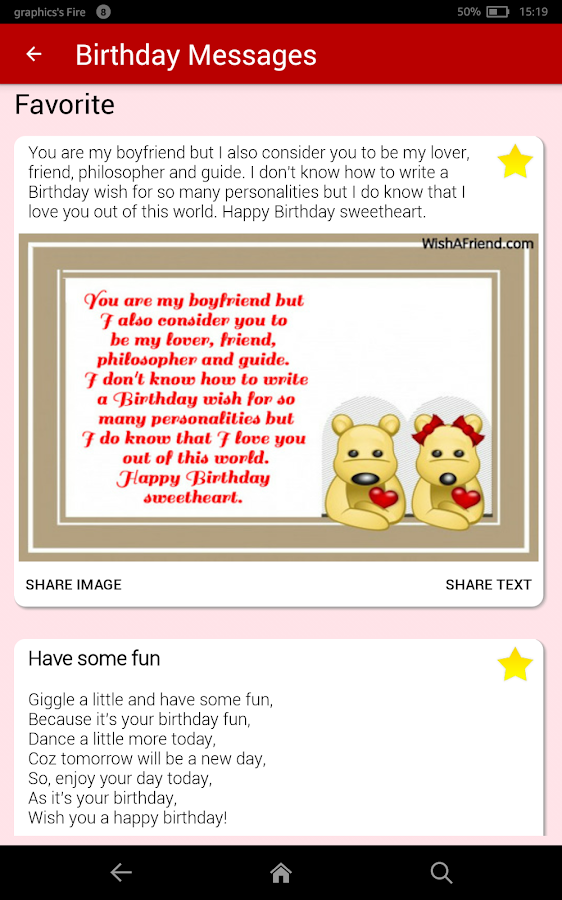 Birthday Cards Messages Wish Friends Family Android Apps – Text for Birthday Card
