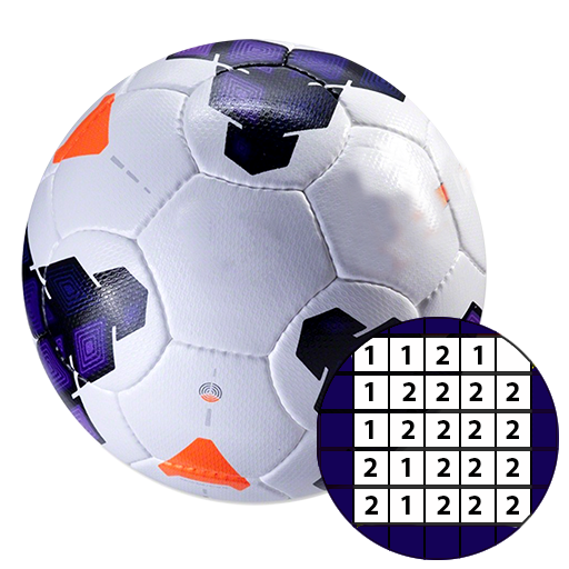 Football Sandbox Color By Numbers Soccer Logo
