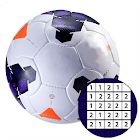 Football Sandbox color by numbers: Soccer logo icon