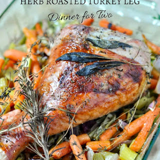 Paleo Herb Roasted Turkey Leg Dinner for Two