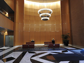Photo: Front Lobby, One-Person Show, Philip Johnson Designed, Towers Crescent  Bldg, Tysons, VA, 5/7 - 8/13/2017
