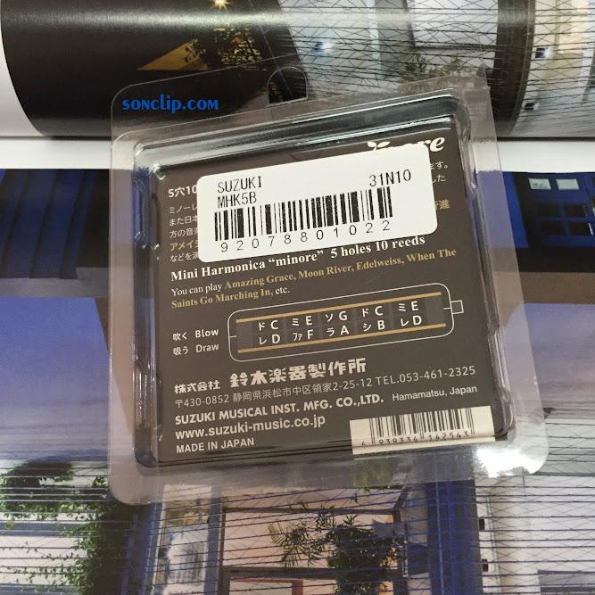 Kèn Harmonica Mini - Suzuki Minore Black