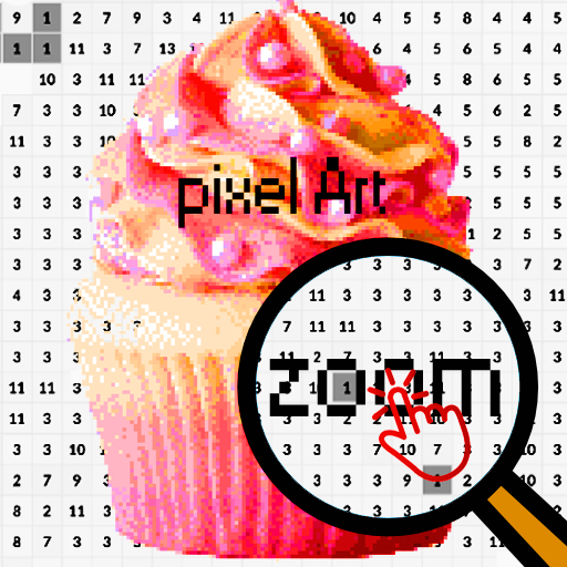 Cupcake Color By Number Food Pixel Art Google Play De Uygulamalar