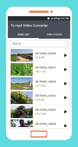 to mp4 3gp webm video converter app screenshot 1
