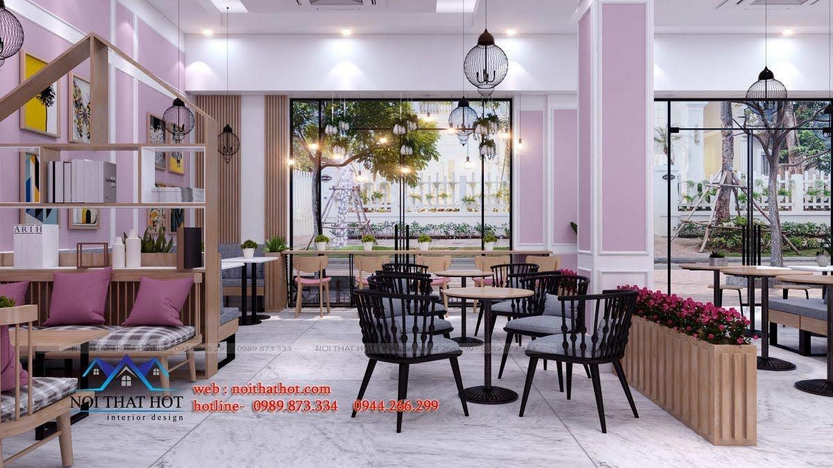 thiết kế quán trà sữa hei tea 8