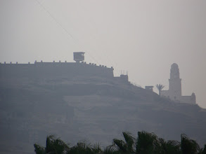 Photo: A fortified compound and a mosque.  I think...