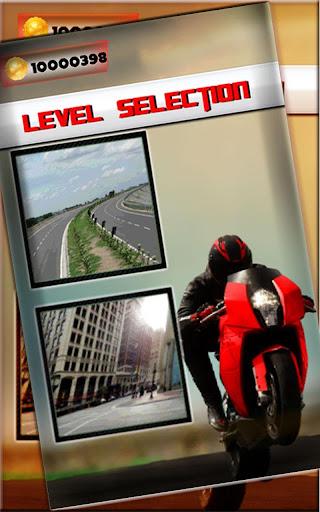 モーターバイクのレースのスリル